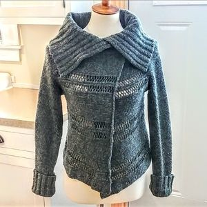 SUNDANCE Olive Green Asymmetric Cardigan Sweater